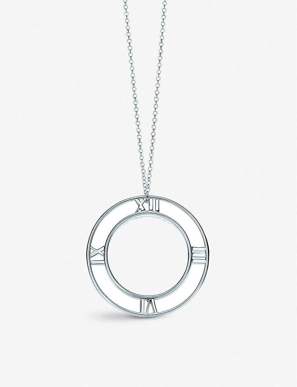 812215983 TIFFANY & CO - Atlas® round pendant in sterling silver, small ...
