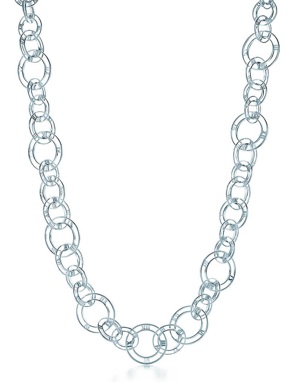 5f50064e6 TIFFANY & CO - Atlas® link necklace in sterling silver | Selfridges.com