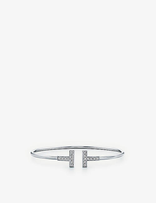 TIFFANY & CO T Wire diamond and 18ct white-gold bracelet
