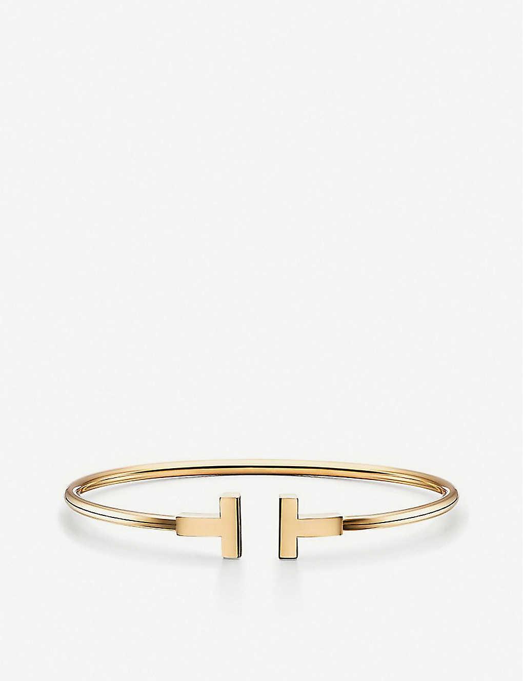 ed52cb865828 TIFFANY   CO - Tiffany T wire bracelet in 18k gold