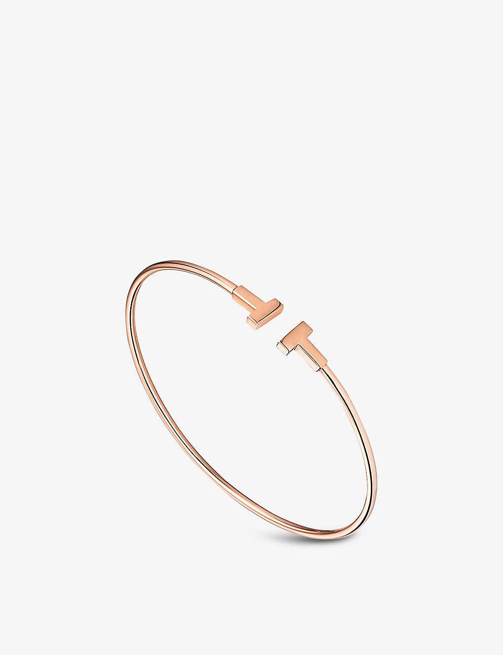 0fa61b10f TIFFANY & CO - Tiffany T narrow wire bracelet in 18k rose gold ...