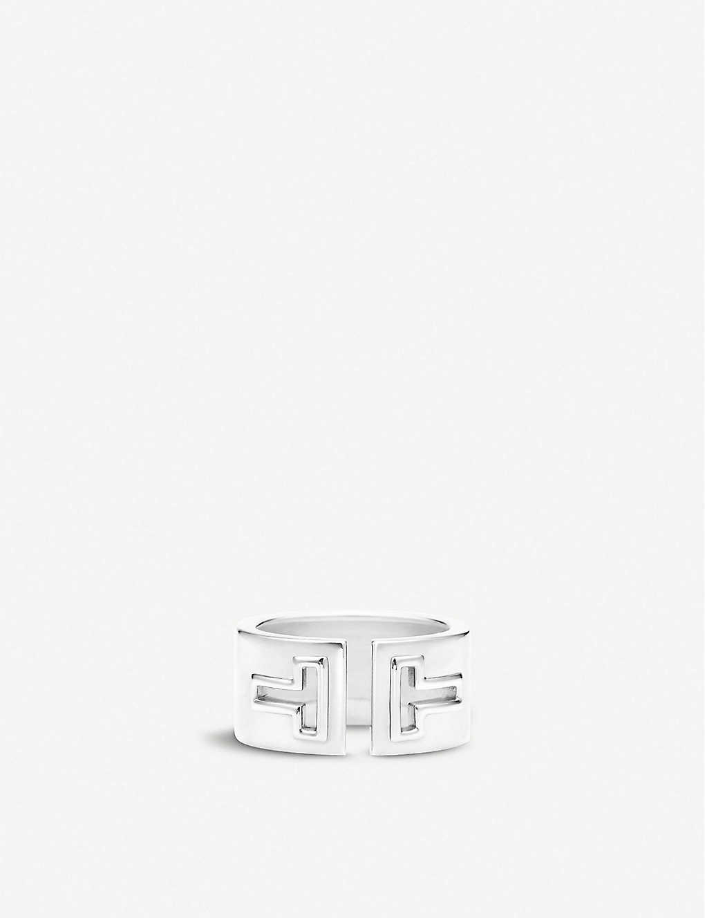 1eac8667a TIFFANY & CO - Tiffany T cutout ring in sterling silver | Selfridges.com