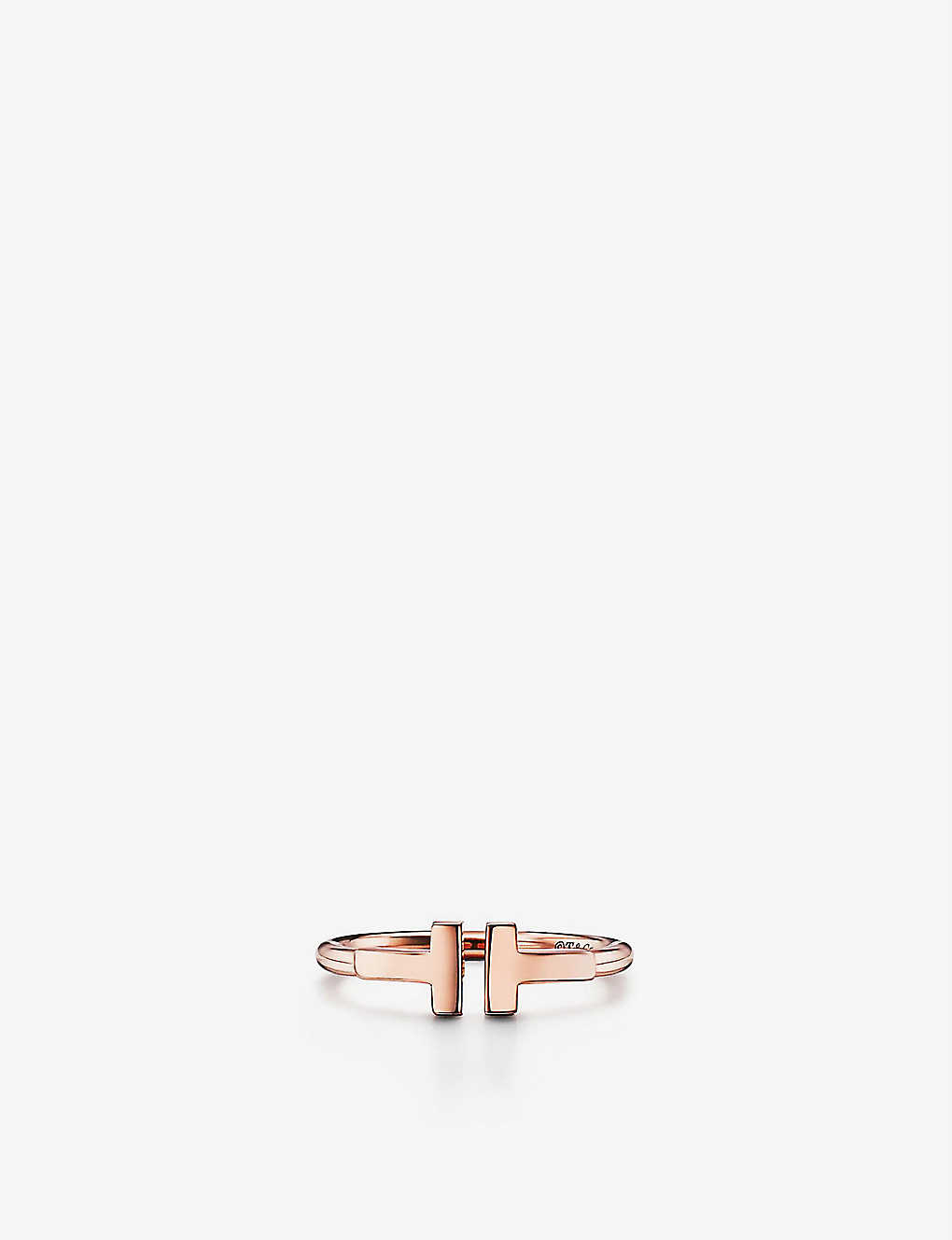 581fd04a9 TIFFANY & CO - Tiffany T 18ct rose-gold wire ring | Selfridges.com