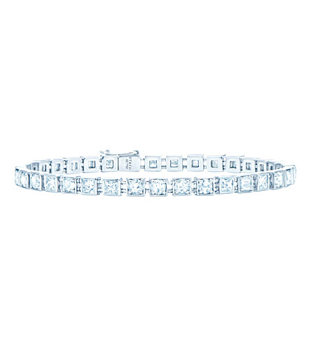 d89d43366 TIFFANY & CO Tiffany T diamond line bracelet in 18k white-gold, small