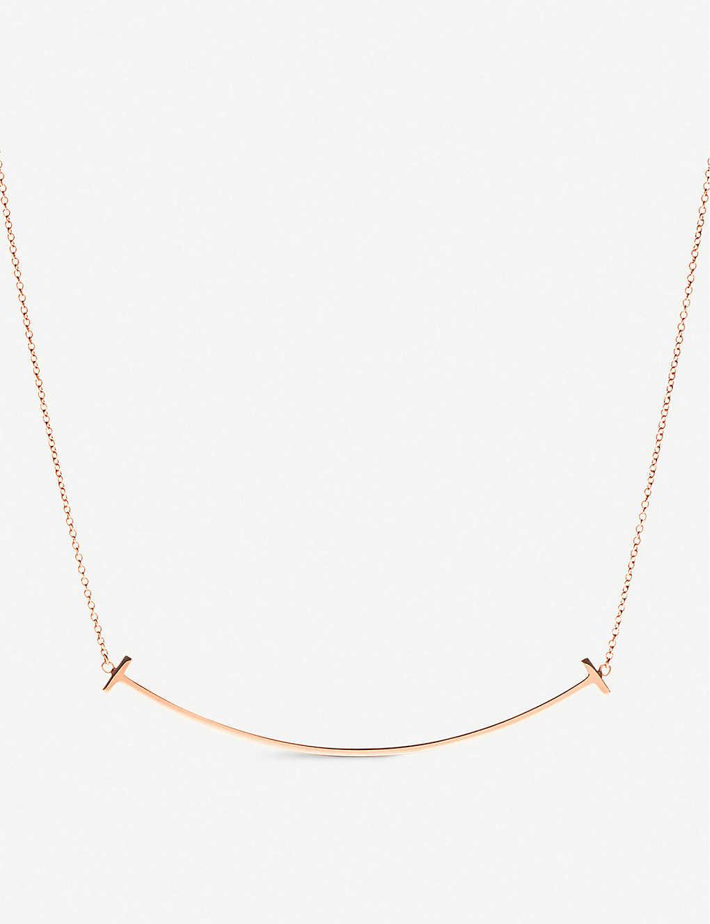 ad3a201ab TIFFANY & CO - Tiffany T smile pendant in 18k rose gold | Selfridges.com