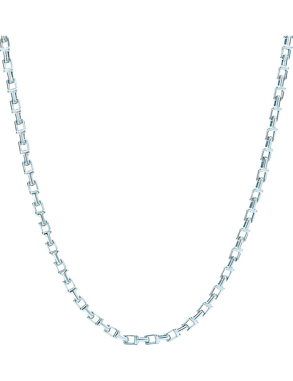 b2ba6634a TIFFANY & CO - Tiffany T narrow chain necklace in sterling silver ...