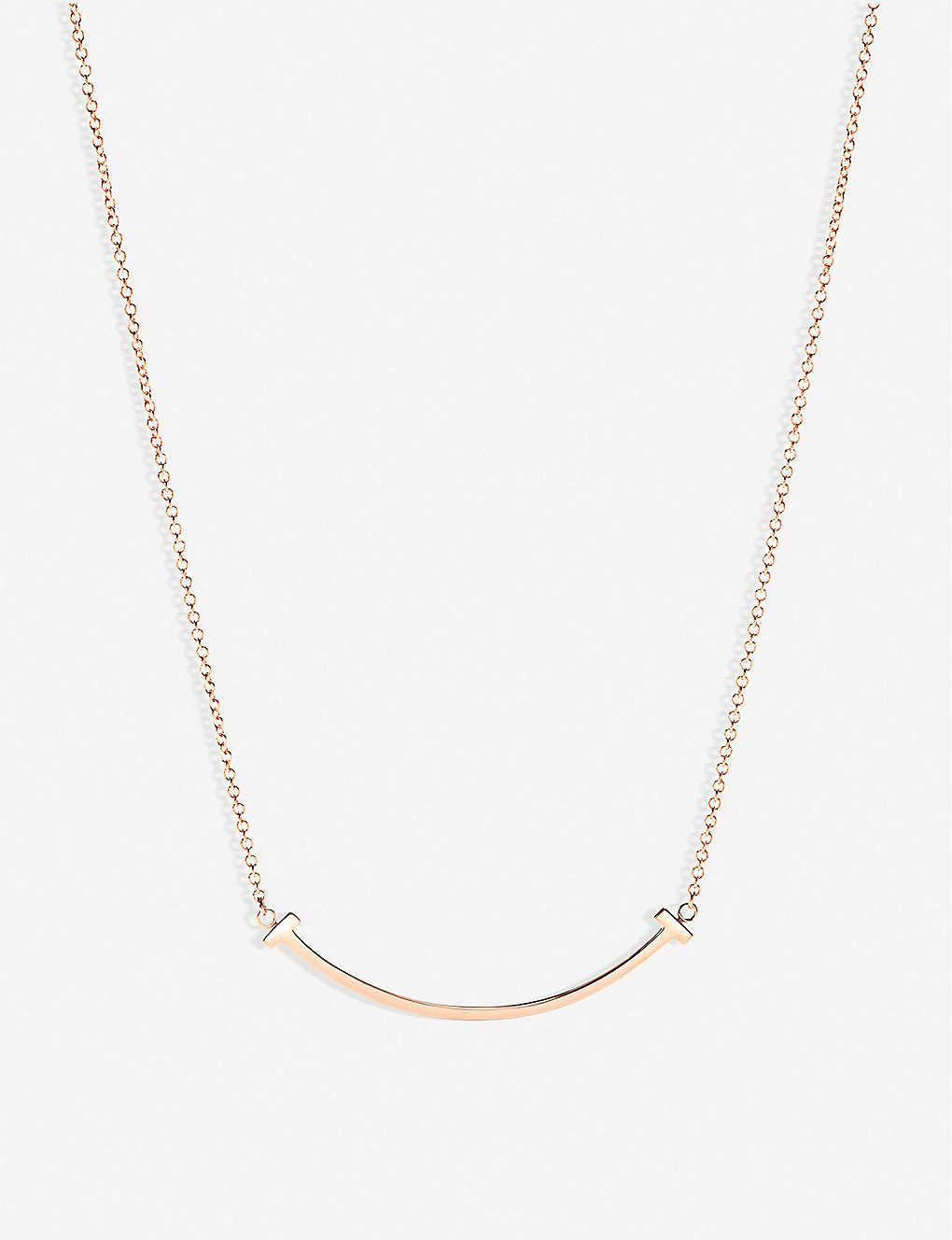 fcd3057dc TIFFANY & CO - Tiffany T smile pendant in 18k rose-gold, mini ...