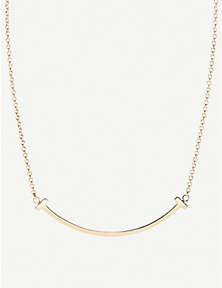 TIFFANY & CO: Tiffany T Smile 18ct yellow-gold necklace