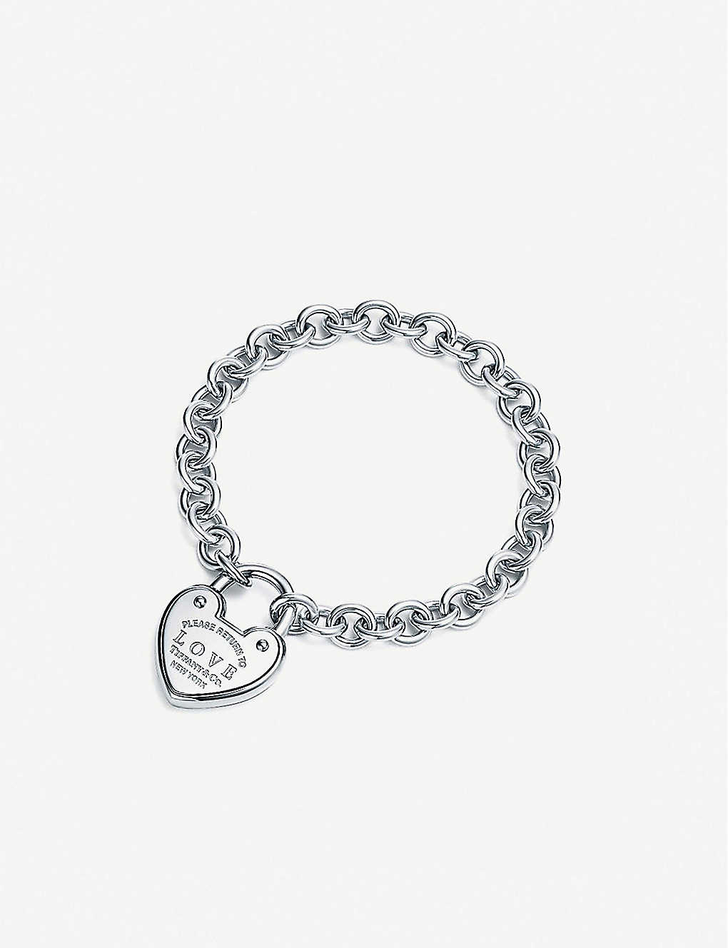 9ceaacf2c TIFFANY & CO - Love Lock sterling silver bracelet | Selfridges.com