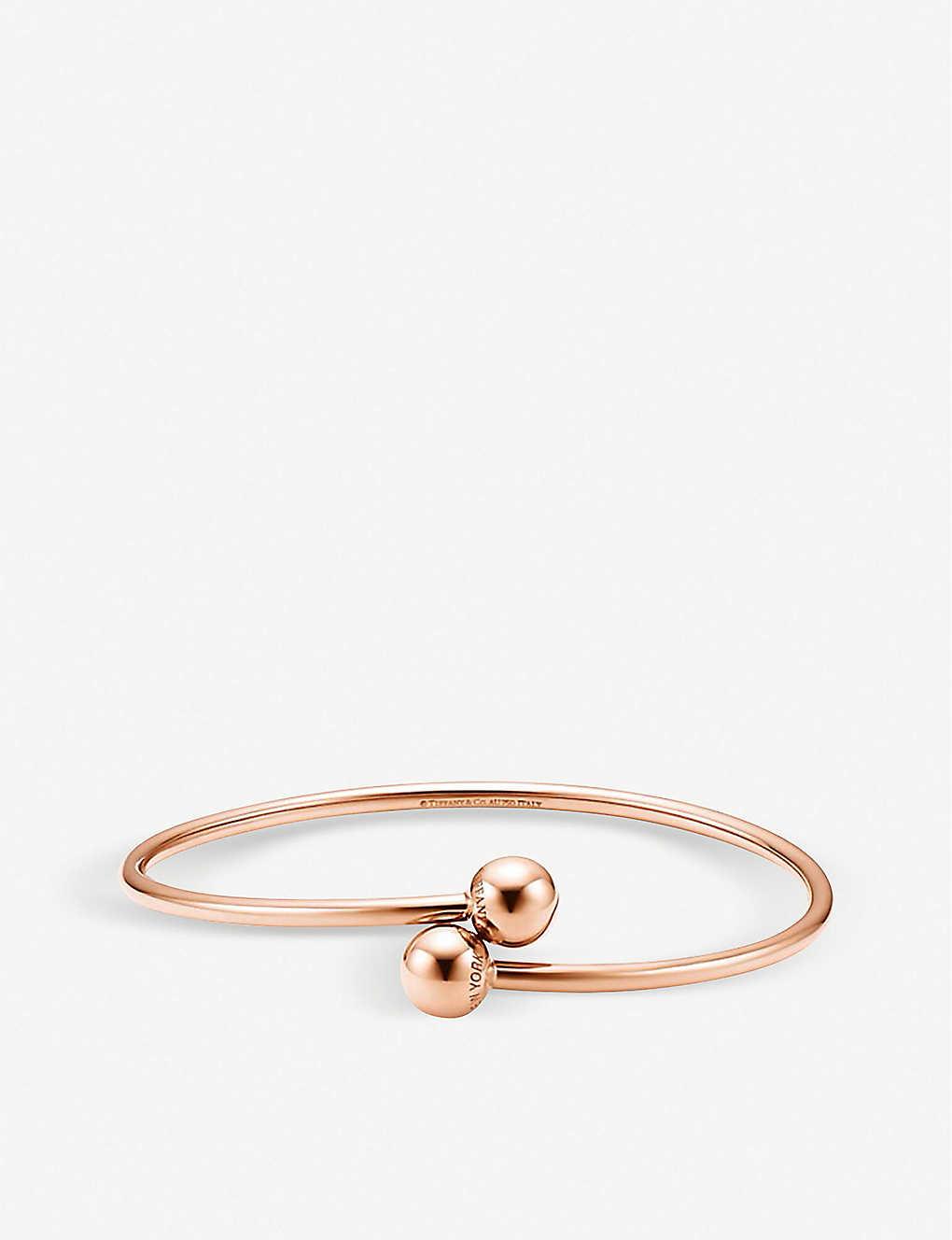 3a2c1b58a Tiffany City HardWear 18k rose-gold ball bypass bracelet - Rose gold ...