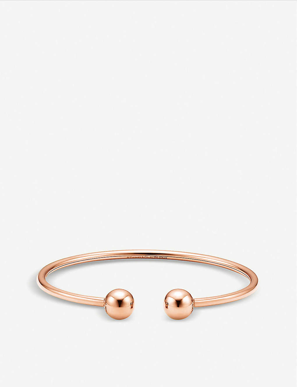 c8d32fe9d Tiffany City HardWear 18k rose-gold ball wire bracelet - Rose gold ...