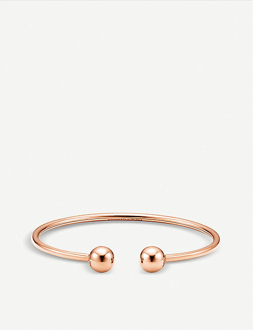 10fe8a7cd TIFFANY & CO Tiffany City HardWear 18k rose-gold ball wire bracelet