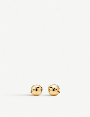 TIFFANY & CO HardWear 18ct yellow-gold stud earrings