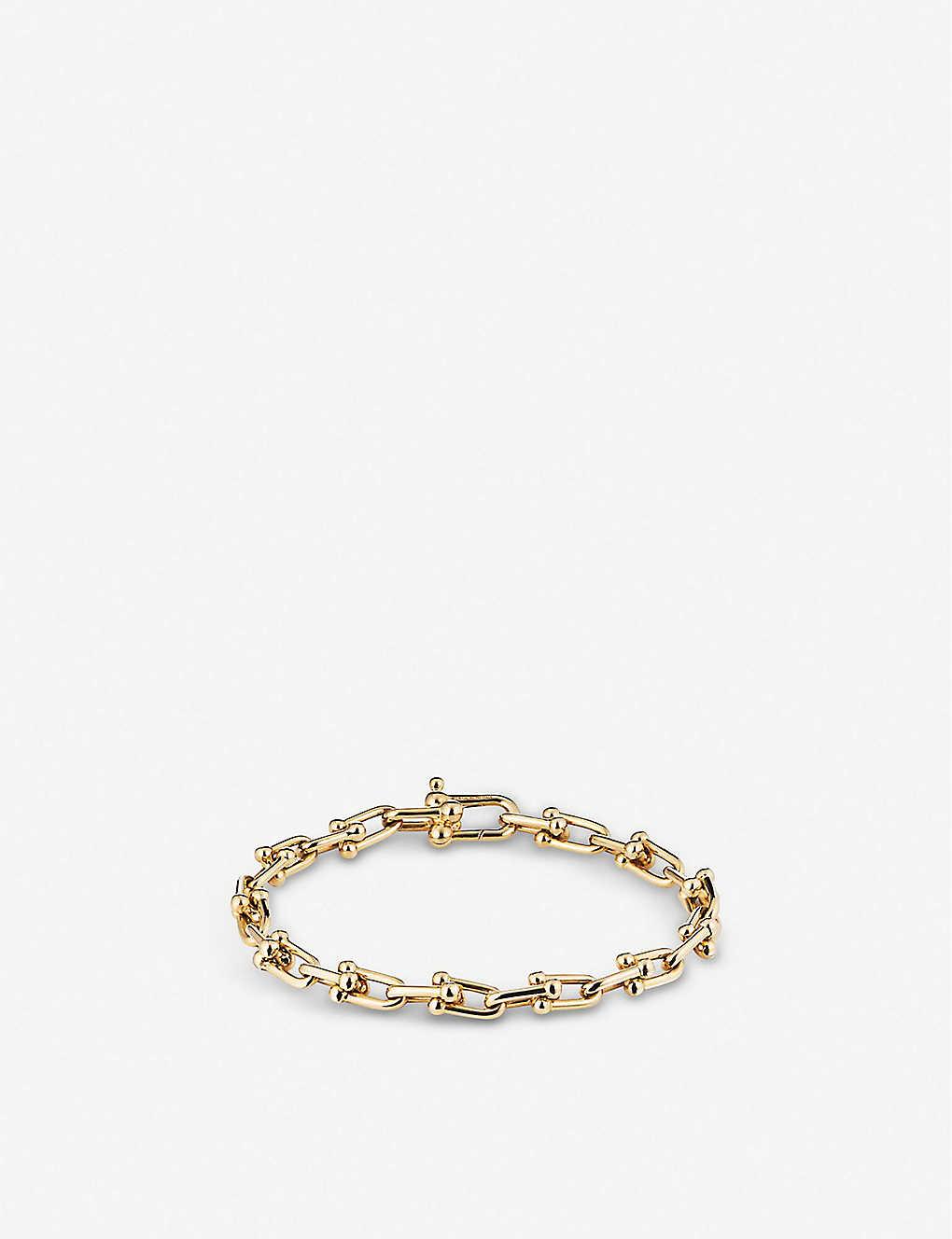TIFFANY & CO - Tiffany City HardWear 18ct gold link bracelet