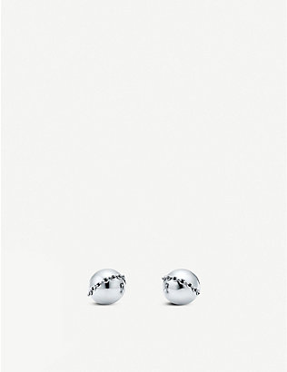TIFFANY & CO: HardWear Bolt Stud sterling silver earrings