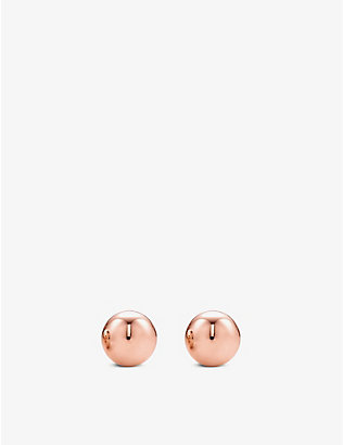 TIFFANY & CO: HardWear Ball 18ct rose-gold earrings