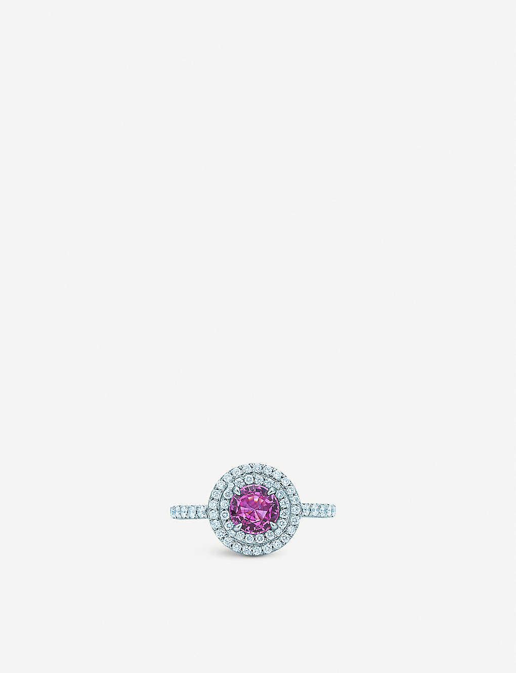 d4545c1c1 TIFFANY & CO - Tiffany Soleste platinum, pink sapphire and diamond ...