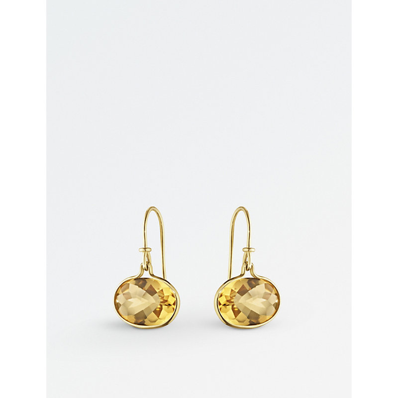 GEORG JENSEN Savannah 18Ct Gold And Citrine Drop Earrings