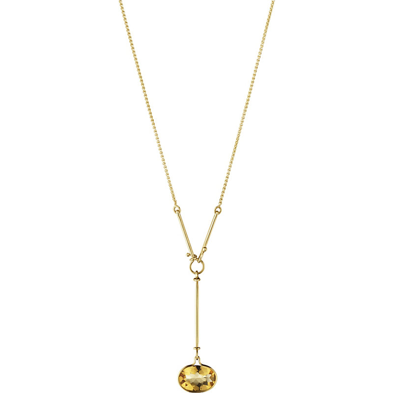 GEORG JENSEN Savannah 18Ct Gold And Citrine Necklace