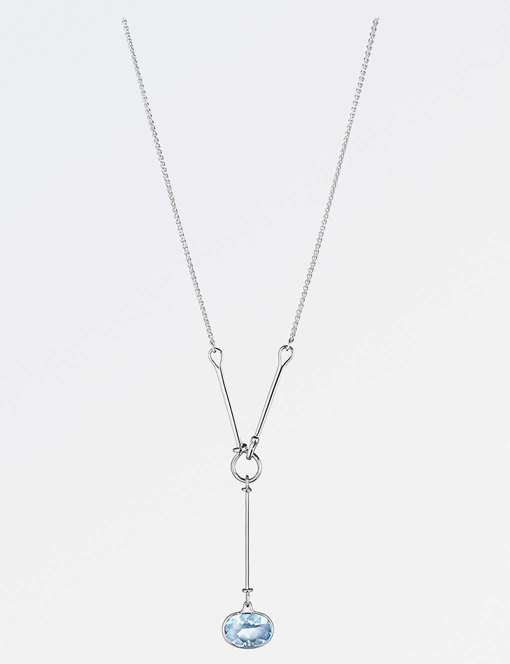 40878bfd1 GEORG JENSEN - Savannah sterling silver and blue topaz necklace ...