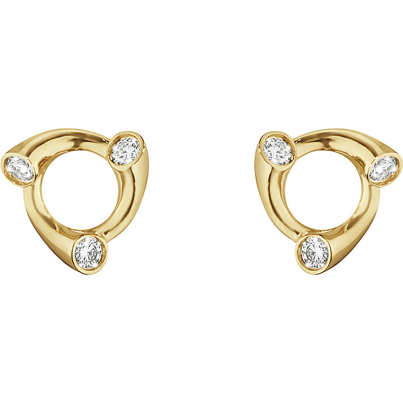 GEORG JENSEN Magic 18Ct Gold And Diamond Earrings