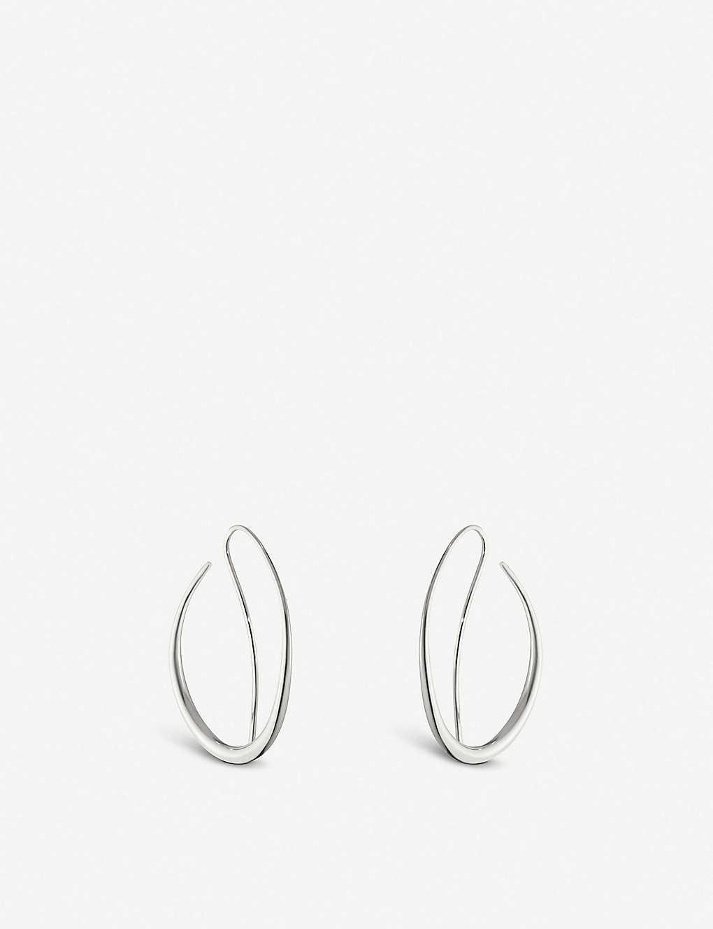 3b82cb8a6 GEORG JENSEN - Offspring sterling silver hoop earrings | Selfridges.com