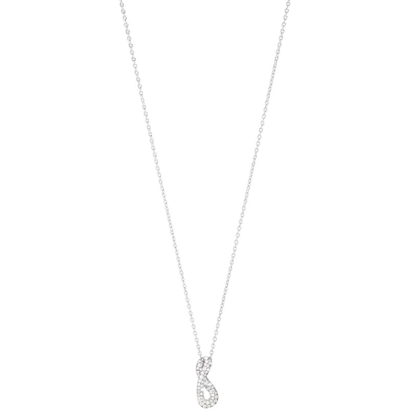 GEORG JENSEN Infinity Sterling Silver And Diamond Necklace