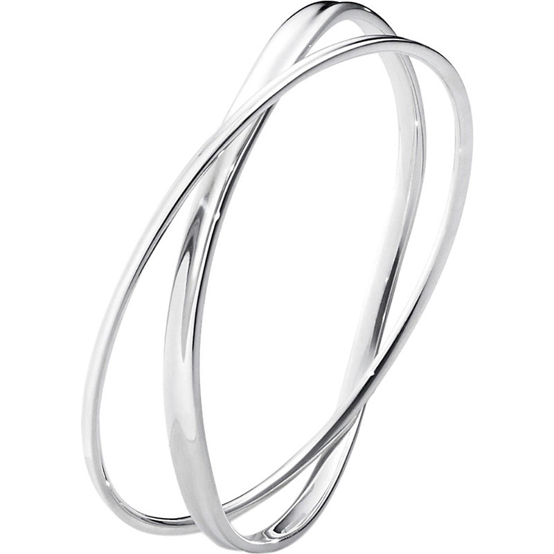 GEORG JENSEN Marcia Sterling Silver Double Bangle