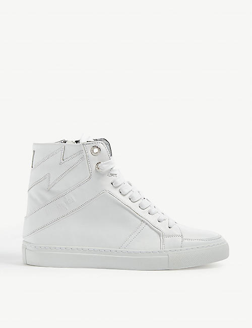 ZADIG&VOLTAIRE ZV1747 leather hi-top trainer