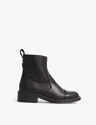 ZADIG&VOLTAIRE: Empress Clous studded leather ankle boots