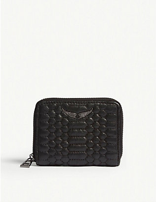 ZADIG&VOLTAIRE: Matelasse leather wallet