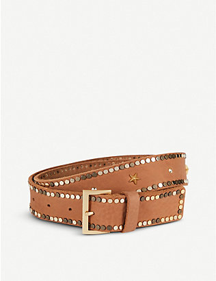 ZADIG&VOLTAIRE: Starlight studded leather belt
