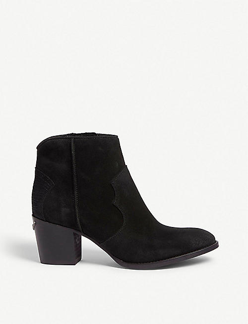 ZADIG&VOLTAIRE: Molly suede ankle boots