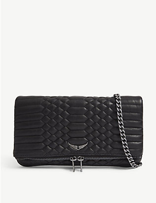 ZADIG&VOLTAIRE: Rock quilted leather clutch