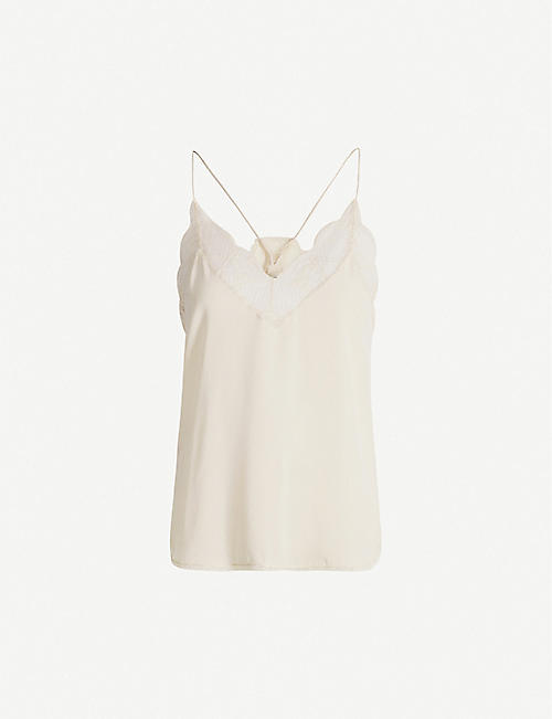 ZADIG&VOLTAIRE: Christy silk cami top