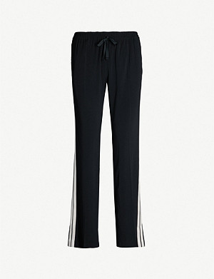 ZADIG&VOLTAIRE Poeme mid-rise side-stripe crepe straight-leg trousers