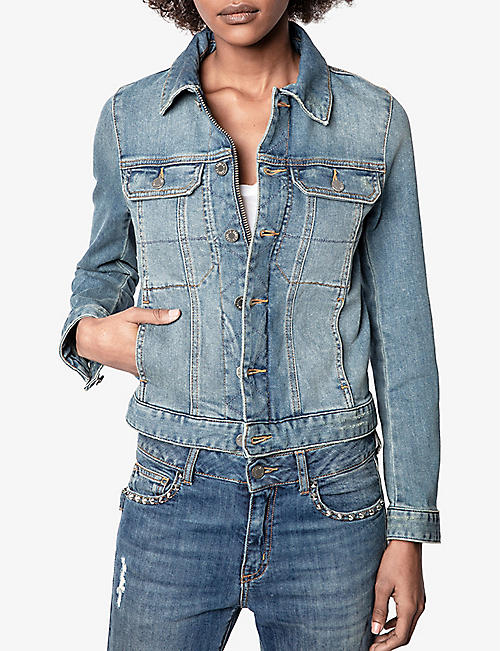 ZADIG&VOLTAIRE Kioky faded stretch-denim jacket