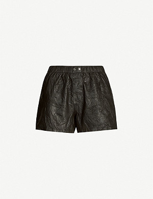 ZADIG&VOLTAIRE Textured leather shorts