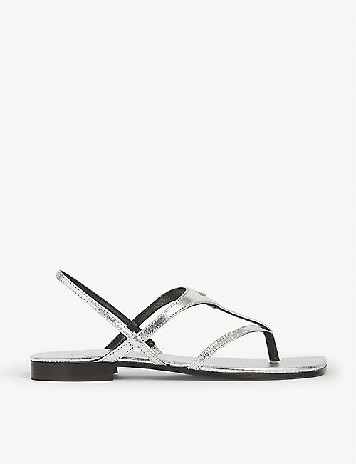 e698d8908a4e ZADIG VOLTAIRE Dillon metallic leather sandals