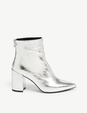 ZADIG&VOLTAIRE Glimmer metallic leather ankle boots