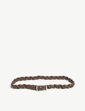 ZADIG&VOLTAIRE Jimmy woven leather belt