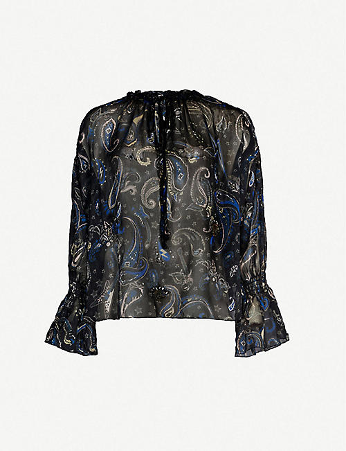 ZADIG&VOLTAIRE Talisa paisley-print crepe blouse