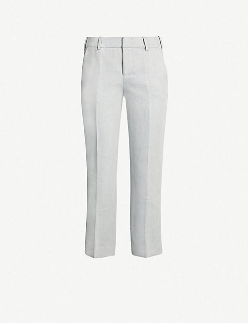 a1ecf67710 ZADIG&VOLTAIRE High-rise cropped cotton-blend trousers