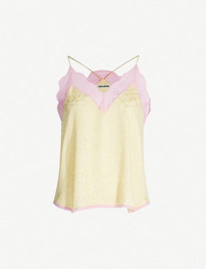 ZADIG&VOLTAIRE Christy silk cami top
