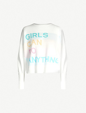 ZADIG&VOLTAIRE Girls can Do Anything cotton-knit jumper