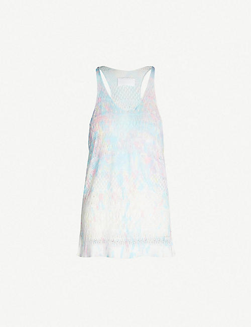 ZADIG&VOLTAIRE Milico embroidered-trim tie-dye cotton vest