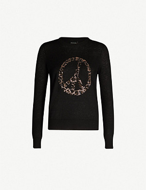 ZADIG&VOLTAIRE Embellished peace-sign cashmere jumper