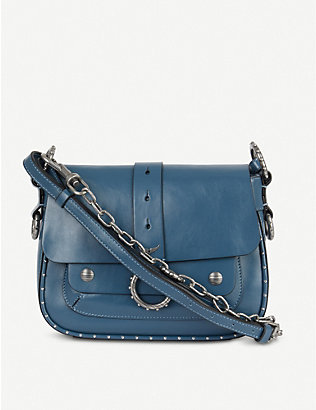 ZADIG&VOLTAIRE: Kate studded leather cross-body bag