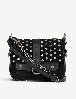 ZADIG&VOLTAIRE Kate studded suede cross-body bag
