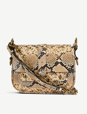 ZADIG&VOLTAIRE Kate Wild snakeskin-print leather cross-body bag